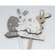 Cute rabbit on a wide plug 25x9x1.5cm