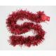 Garland piros XL 200x10cm ragasztott fóliával csík