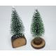 Christmas tree on a log, 11x4cm, 2- times assorted