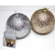 Fa gömb csillogó csillagok 8cm arany és ezüst sort