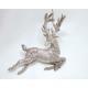 Plastic hanger deer gold glitter 13x11cm