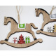 Wooden hanger rocking horse 12x11cm 2-way sort
