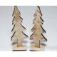 Wooden fir tree XXL 20x6x4cm, on a wooden stand
