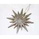 Csillaggal díszített, 12x12cm csillogó, fogas