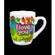 Cartoon mug I love you 1
