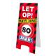 Warnschild - 80 Jahre