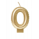 Foil balloon candle gold - 0