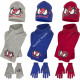 Spiderman bonnet echarpe en gants