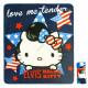 Hello Kitty Elvis fleece blanket