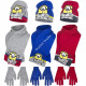 Minions hat scarf and gloves