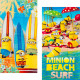 Minions velour beach towel Cool in hot water
