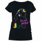 Pummeleinhorn - Damen T-Shirt mit Glitzerschrift