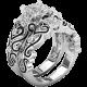 Nicole ring with white zircons